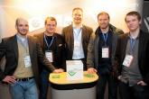 Mit dabei v.l.: Thomas Hellwege (VfL Gummersbach), Matthias Lang und Axel Sierau (SMC), Ex-Nationalspieler Jens Nowotny und Tobias Endlich (SMC)