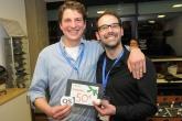 Das myTaxi-Duo gewinnt beim Tischfußball in der KickerLounge zwei Karten zum dmexco-Special des OS Deutschland und einen leckeren Preis von froodies.de